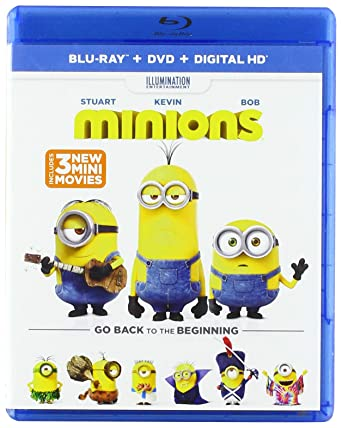 Amazoncom Minions Blu Ray Dvd Digital Hd Sandra Bullock