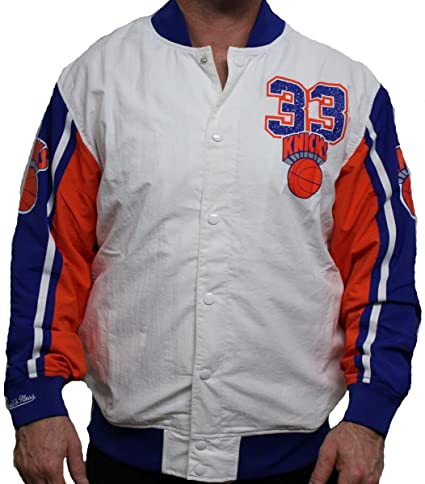new products ea4bc be0b8 Mitchell & Ness Patrick Ewing New York Knicks NBA Warmup Premium Jacket