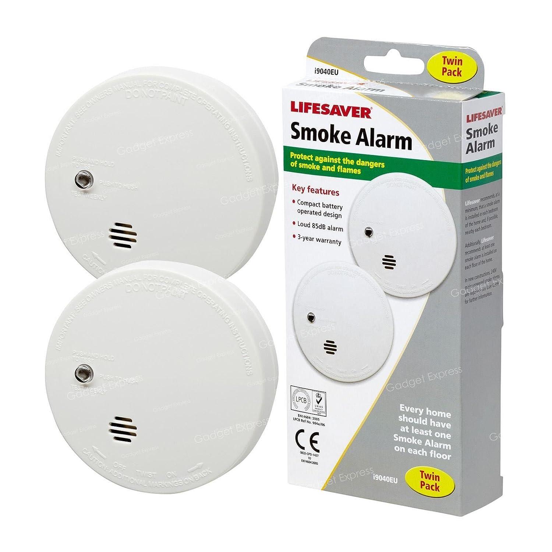 4 x Kidde i9040 Fire alarmas de humo ionización Sensor compacto funciona con pilas de botón silencio/(doble 2 paquetes): Amazon.es: Bricolaje y herramientas