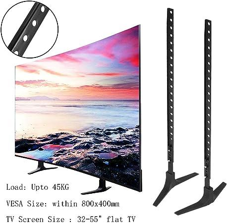 Generic - Mueble para la televisión, Base de aleación de Acero y Plasma LCD, Pantalla Plana Universal, Bandeja de Mesa de 32 a 55 Pulgadas, Altura Ajustable, fácil instalación: Amazon.es: Hogar