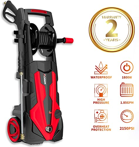 Kawasaki 1650 PSI Outdoor Cleaning Portable Electric Pressure Washer – 842056
