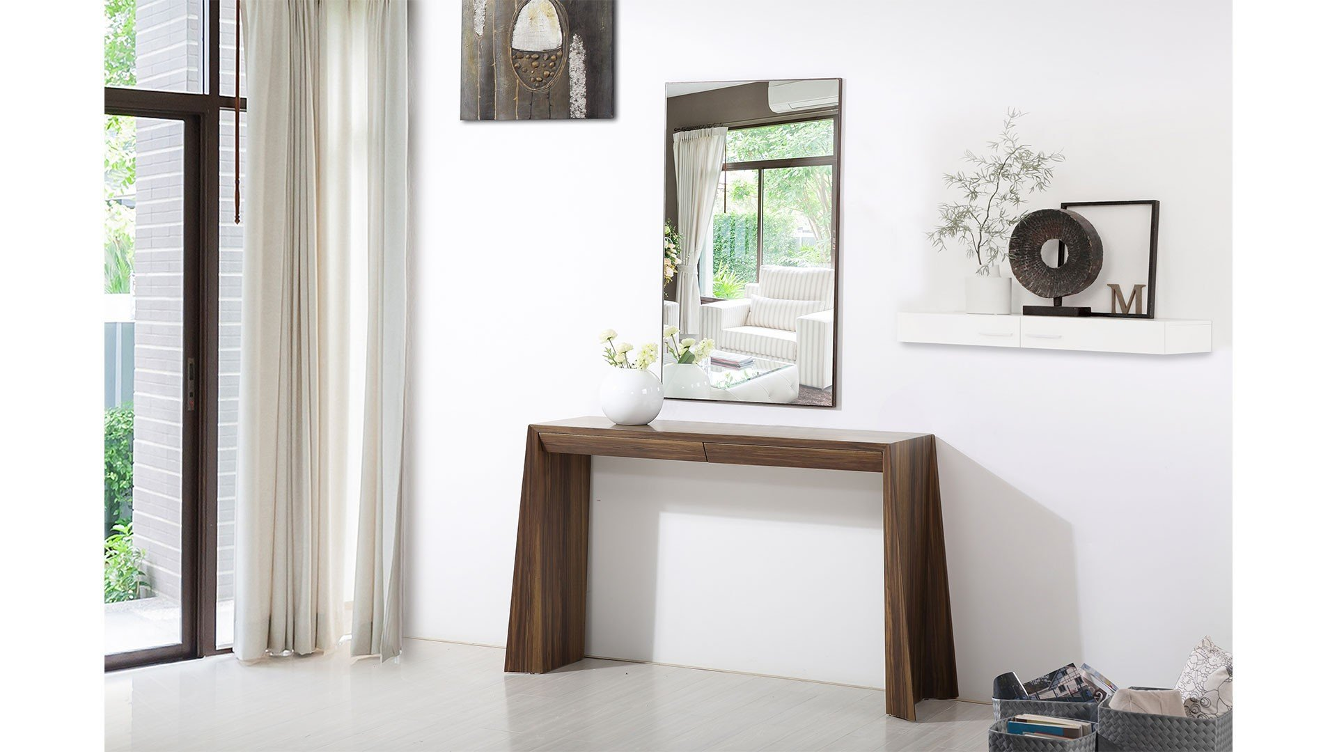 At Home Ahu-RA9001-Con-Wal Ella Console Table Set