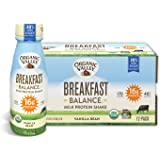 Organic Valley Breakfast Balance, Organic Milk Protein Shake, Vanilla Bean, 11 Ounces (Pack of 12)