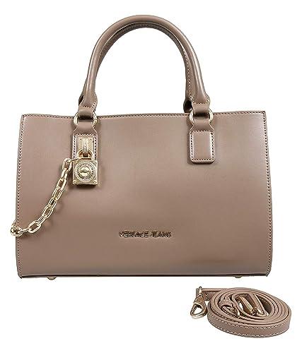 1fb16f907574 Versace EE1VSBBG7 EMDU Taupe Satchel Bag for Womens