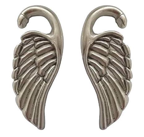 Pesos de oreja de pareja plateados plata para lóbulos estirados - Dos pendientes dilataciones orejas en