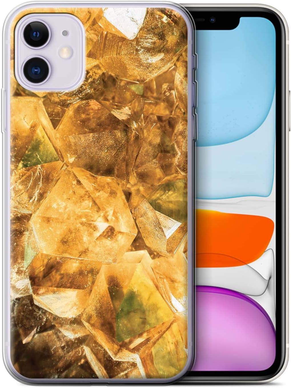 eSwish Carcasa/Funda TPU/Gel para el Apple iPhone 11 / Serie: Piedra Zodíaco/Preciosa - Noviembre/Citrino