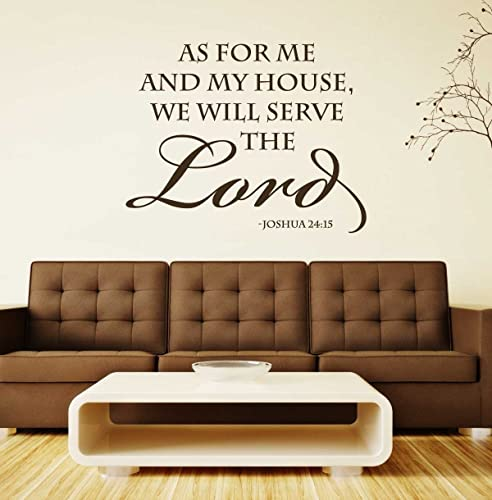 Amazoncom Joshua 24 15 Wall Art Bible Scripture Verse As For Me