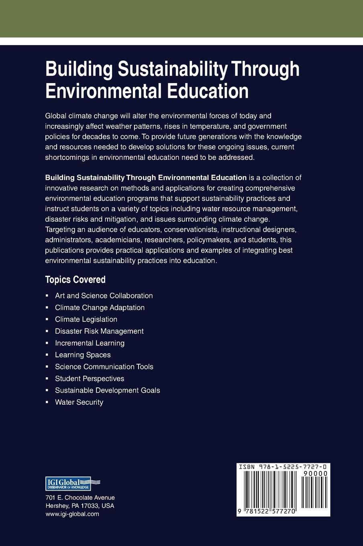 Building Sustainability Through Environmental Education