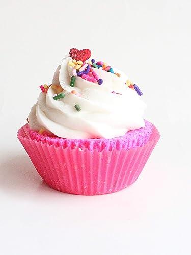 Amazon Birthday Cake Cupcake Bath Bomb Handmade