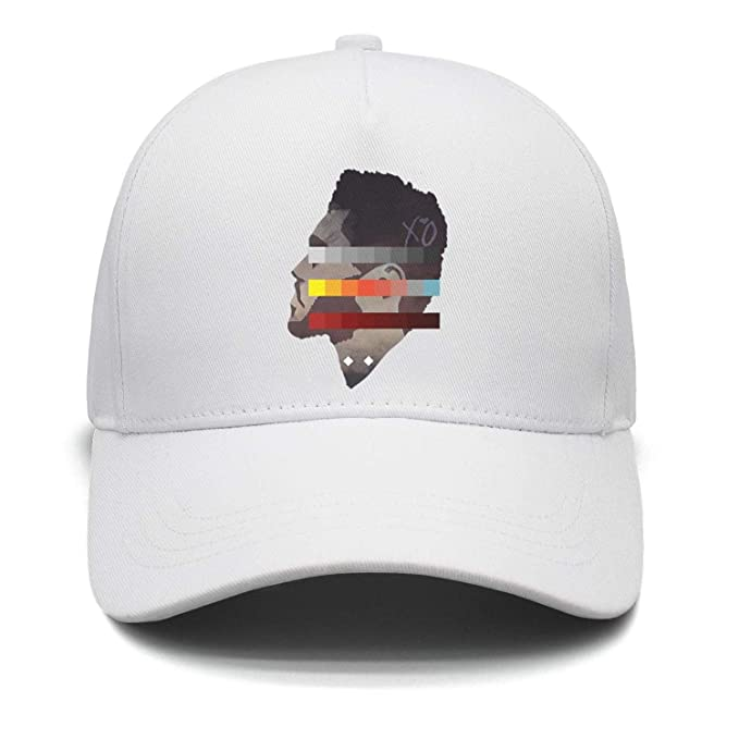 Image Unavailable. Image not available for. Color  The Weeknd Side Face  Colorful Painting Unisex White Trucker Hat for Mens Womens Printing Caps 8e4a8f440b71