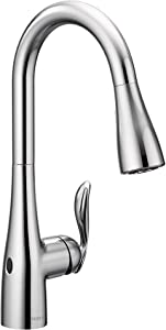 Moen 7594EWC Arbor Motionsense Wave Touchless One-Handle Pulldown Kitchen Faucet Featuring Power Clean, Chrome