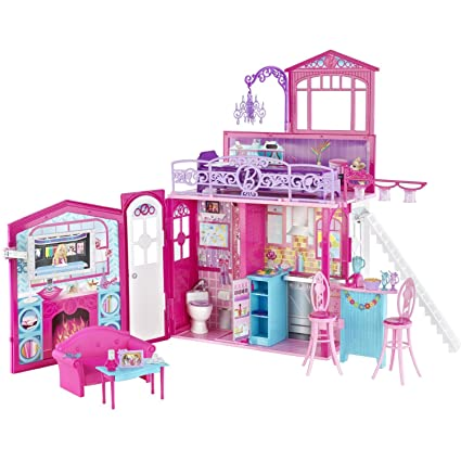 Amazon Com Barbie Glam Vacation House Toys Games