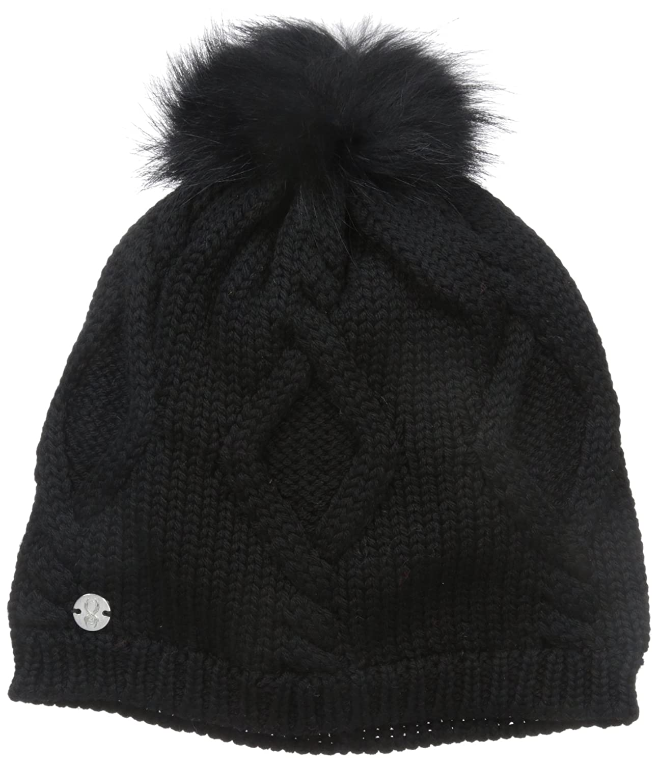 9ed2f69dd8c5d6 Amazon.com : Spyder Women's Knit Wit Hat, Black, One Size : Clothing