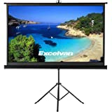 "Projector Screen with Foldable Stand Tripod, Excelvan Portable 100"" Diagonal HD 16:9 Pull Up Movie Screen for Home Theater Cinema Wedding Party Office Presentation"