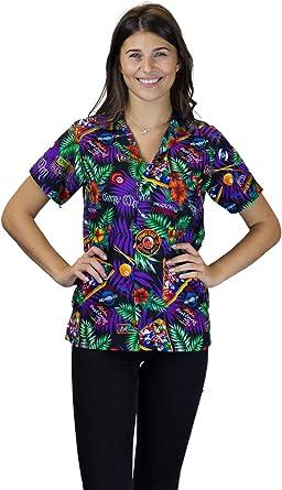 Original King Kameha   Funky Camisa Hawaiana Mujeres   XS-6XL   Manga Corta Bolsillo Delantero  impresión De Hawaii  Billar de la Piscina  Negro