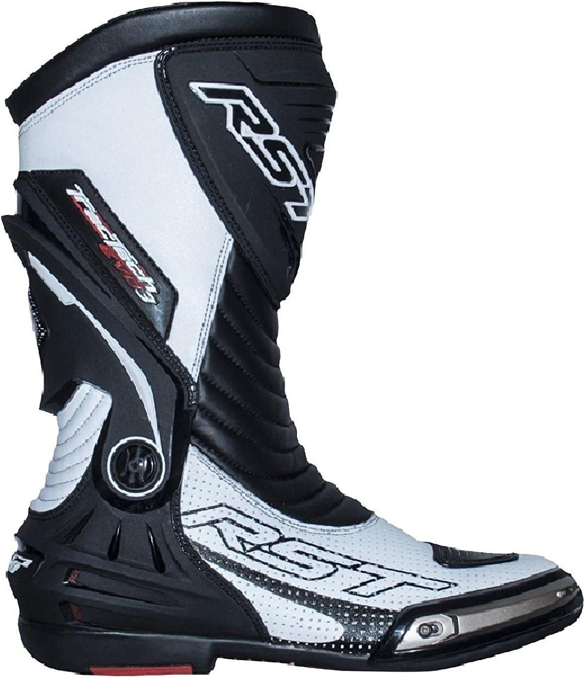RST Bottes de Moto Adultes 2101 TRACTECH Evo III Bottes Moto GP Quad ATV Rue sur la Route Piste de Course Super Moto tourn/ée Sports certifi/és CE Bottes