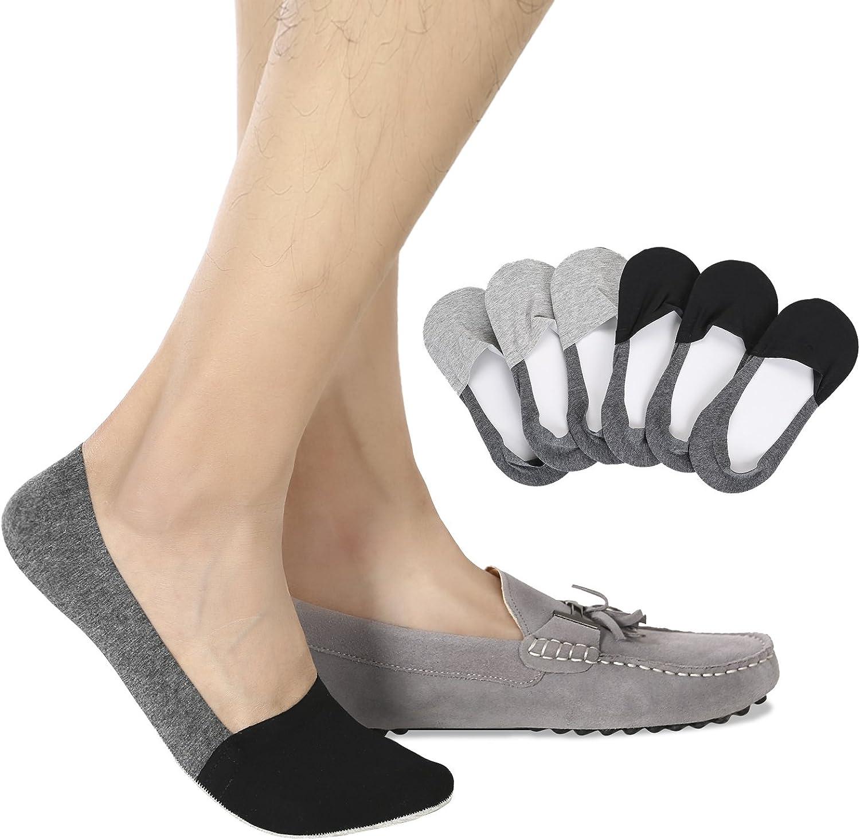 7 Pairs Men/'s Invisible No Show Socks Low Cut Non Slip Soft Boat Liner Socks