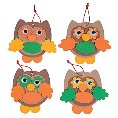 Foam Owl Ornaments - Crafts for Kids and Fun Home Activities: Toys & Games [5Bkhe1003685]