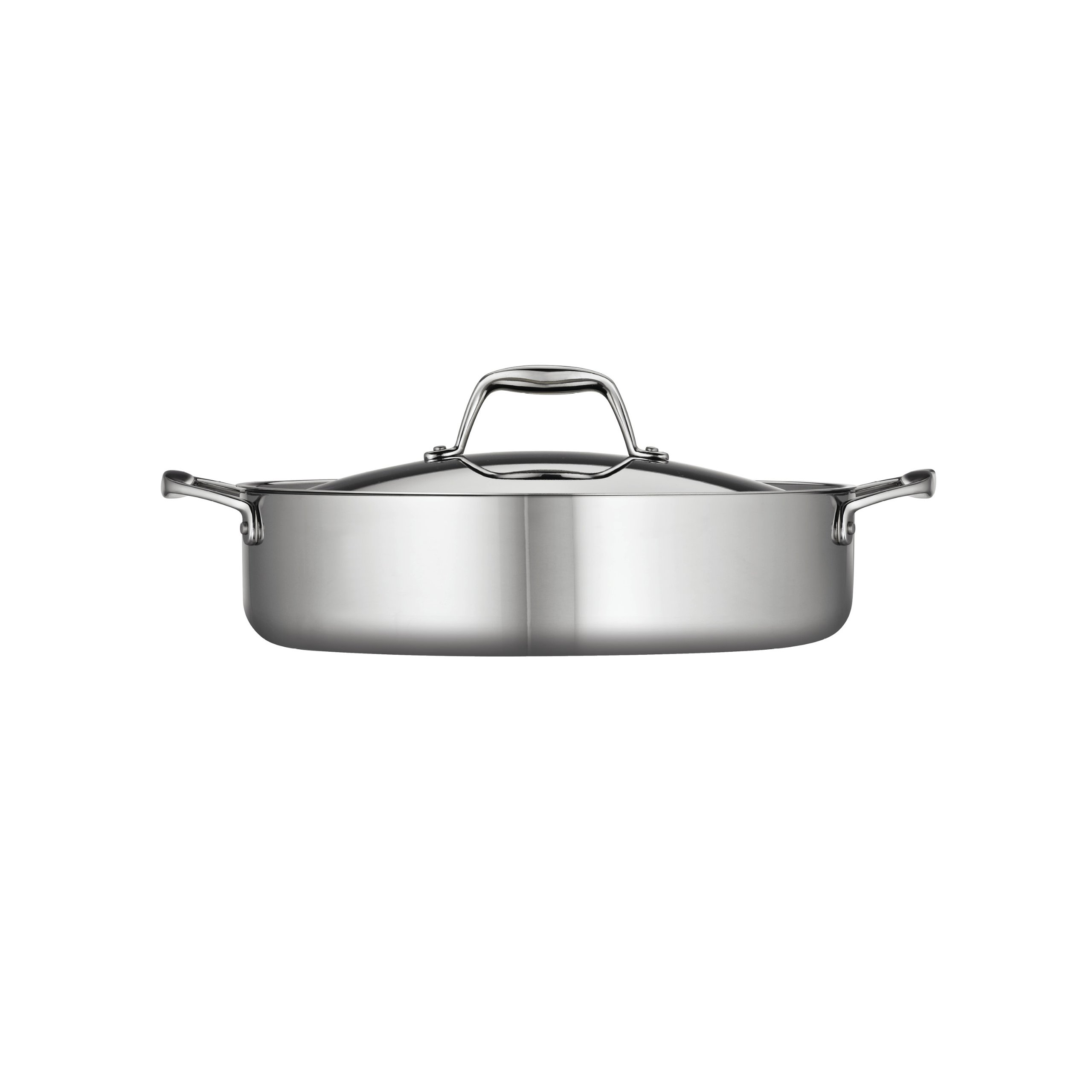Tramontina 80116/015DS Gourmet Stainless Steel Induction-Ready Tri-Ply Clad Covered Braiser, 5-Quart, NSF-Certified, Made in Brazil by Tramontina (Image #2)