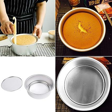 Banbie8409 Cocina de la herramienta 8 de aleación de aluminio antiadherente Ronda bake Molde herramienta de ...