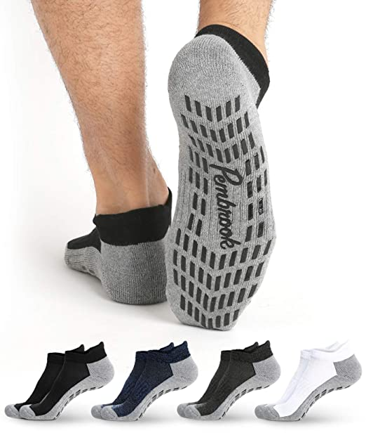 Amazon.com: Calcetines antideslizantes para tobillo, 4 pares ...