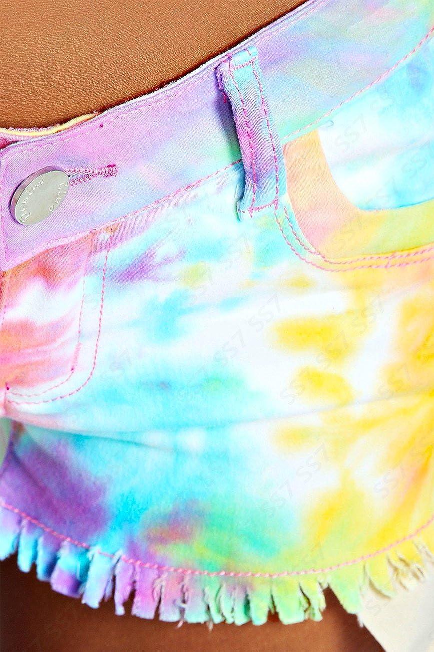Womens Shorts Denim Neon Bright Ladies HOT Pants Size 6 8 10 12 14