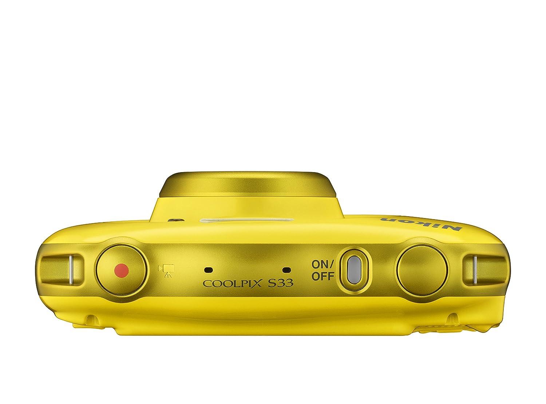 Nikon COOLPIX S33 + Selfie stick Fotocamera compatta 13.2MP 1/3.1\' CMOS 4160 x 3120Pixel Giallo
