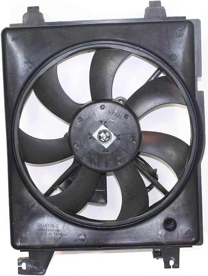 Radiator Cooling Fan For 2001-2006 Hyundai Elantra 2003-2008 Tiburon Left Side