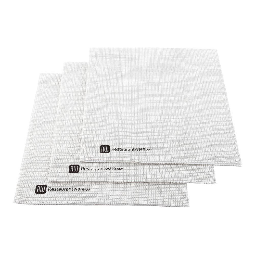 Luxenap Micropoint 2-Ply Dinner Napkins - Soft and Durable 16'' x 16'' White with Grey Threads Paper Napkins - Disposable and Recyclable – 1800-CT – Restaurantware