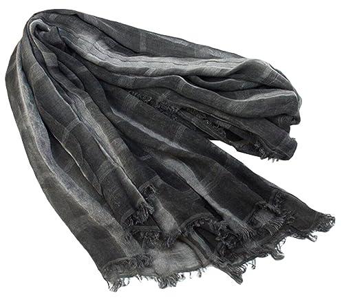 BELLA-Retro Sciarpa Donna a Quadri di Cotone Scialle Caldo Primavera Autunno Stole Foulard