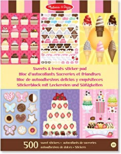 Melissa & Doug Sweets and Treats Sticker Pad - 500 Stickers, 16 Backgrounds