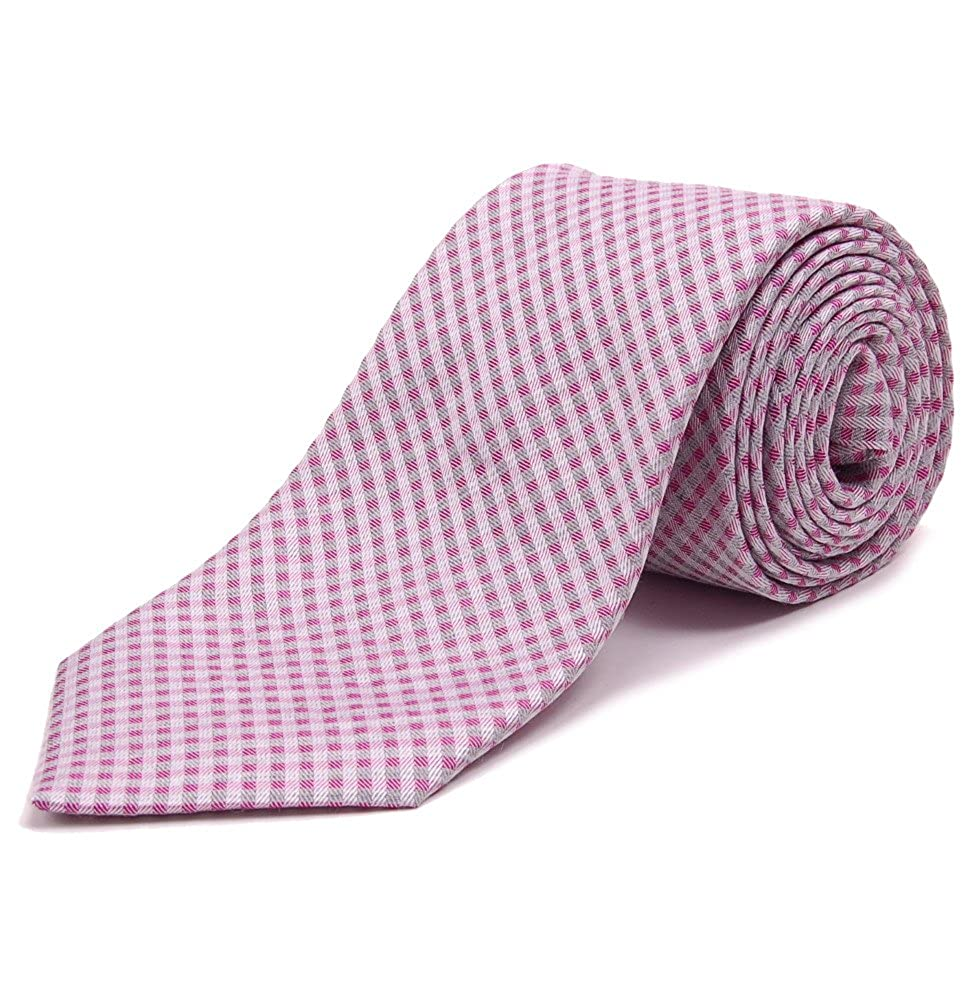 Altea Silk Tie - gris y rosa pálido Check -: Amazon.es: Ropa y ...