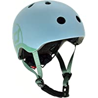 Scoot & Ride Kids Helmet with Adjustable Strap, LED Safety Light, and Magnetic No-Pinch Clip Rose