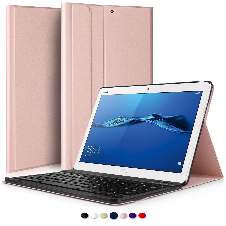 IVSO Teclado Estuche para Huawei MediaPad M3 Lite 10,[QWERTY],con Magnético Desmontable Wireless Inalámbrico Utilizando Altura Ajustable Teclado Funda para ...
