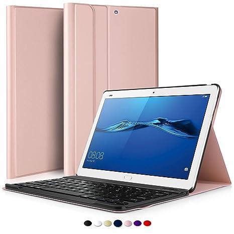 IVSO Teclado Estuche para Huawei MediaPad M3 Lite 10,[QWERTY],con Magnético