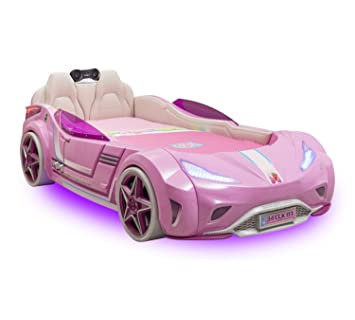 Cilek Gti Car Bed Pink 90x195 Cm Music Player Amazon Co Uk