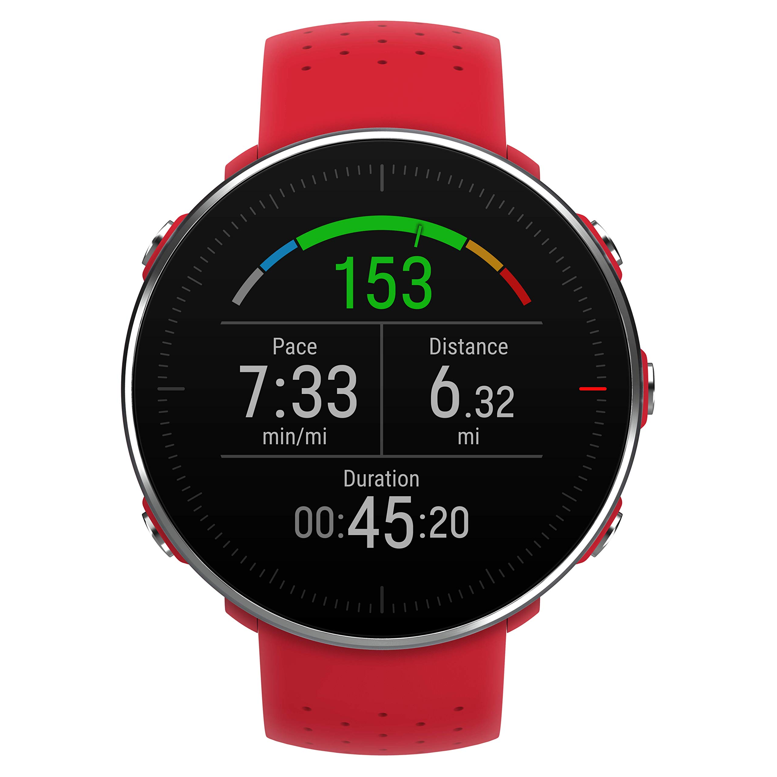 POLAR VANTAGE M –Advanced Running & Multisport Watch with GPS and Wrist-based Heart Rate (Lightweight Design & Latest Technology, Red, M-L