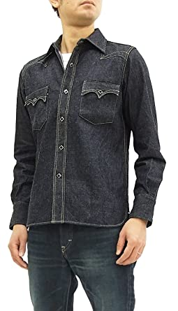 17859ea6d9 SAMURAI JEANS Men s Long Sleeve Selvedge Denim Western Shirt SWD-L01 From  Japan (Medium