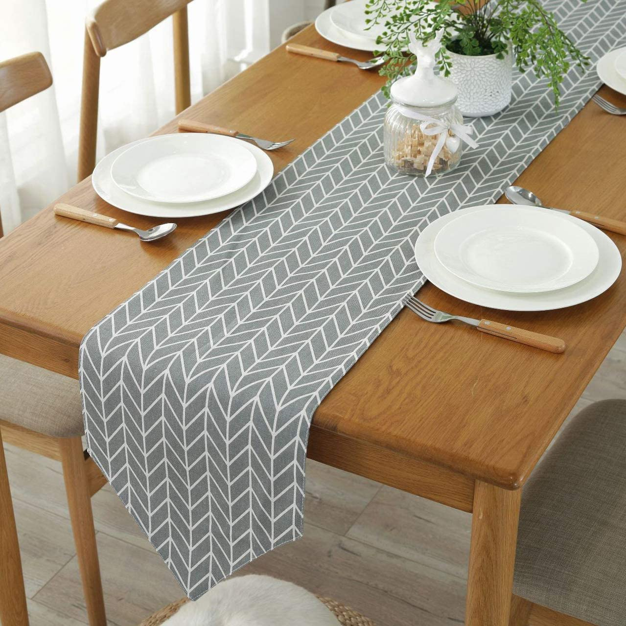 30x160cm MUCHENG Polyester Geometric Jacquard Table Runners for Wedding Christmas Home Decor Party Supplies