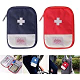 2 Packs First Aid Bag,Empty First Aid Pouch,Mini Portable Medical Bag for Outdoor Camping Hiking Travel Emergency…