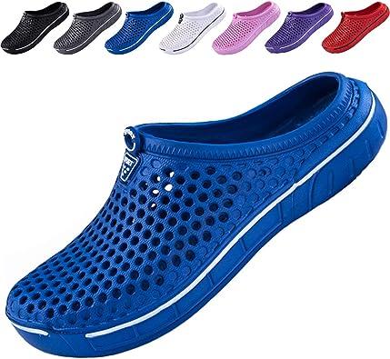 Ikeyo Zuecos Hombr Verano Zapatillas de Jardín Sandalias Playa Zapatillas de Estar por casa Pantuflas Slippers Interior Exterior: Amazon.es: Zapatos y complementos