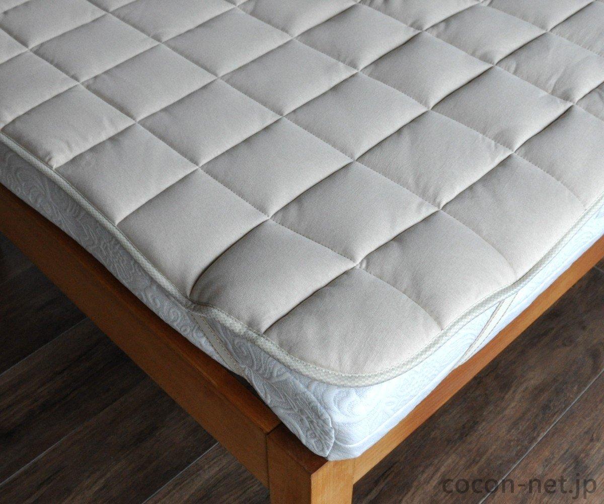 キャメル 敷きパッド/ベッドパッド 日本製 (クイーン) B01N99AQ5Y  クイーン
