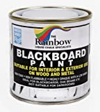 White Chalkboard Paint - 250ml Ideal to use with Liquid Chalk and Dry Chalk Sticks