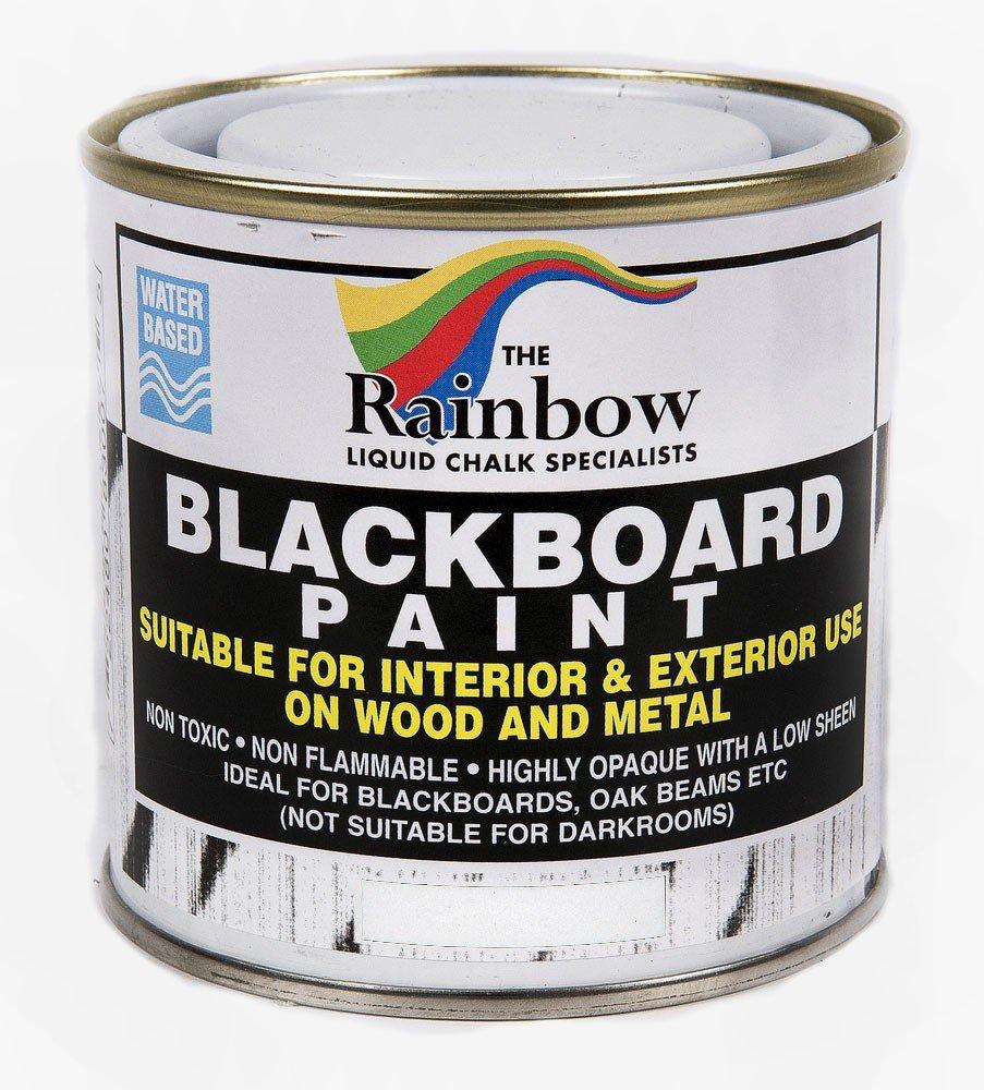 Pintura de pizarra (250 ml) para tizas lí quidas y secas, color blanco Rainbow Chalk Markers