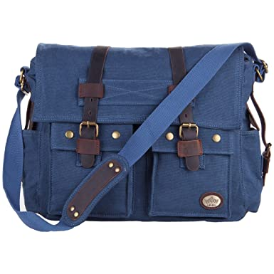 b44f124bfb Amazon.com | CLELO Military Style Colonial Laptop Messenger Bag ...