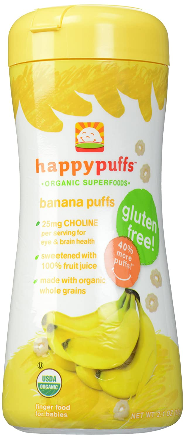 Happy Baby Organic Puffs Banana, 2.1 oz (Pack of 6) 119