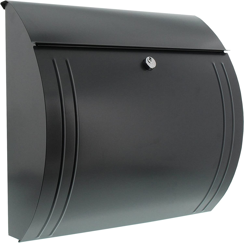 Modena 857 ANT Verzinkter Stahl Burg-W/ächter Briefkasten mit /Öffnungsstopp A4 Einwurf-Format Anthrazit EU Norm EN 13724