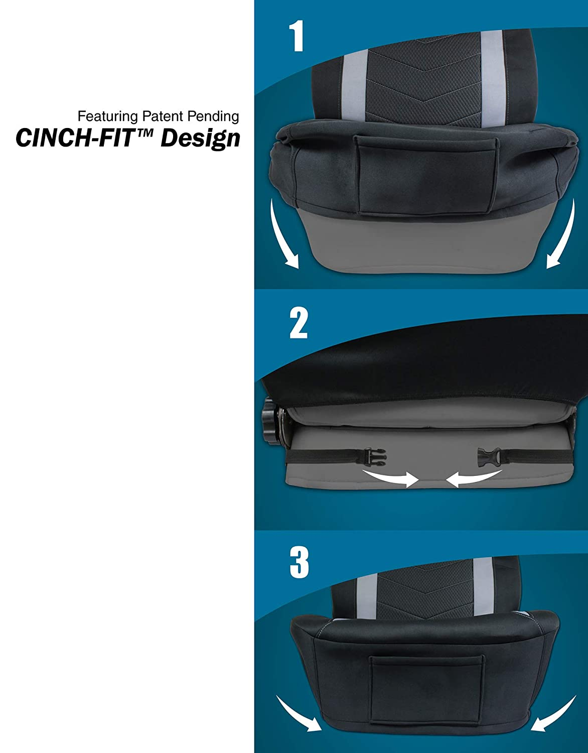Eurow Vehicle Seat Covers Waterproof Wetsuit EVA Material 2 Pack Eurow /& O/'Reilly Corp.