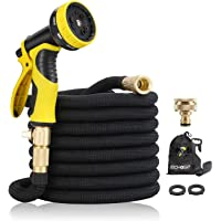"""15M Garden Hose - ALL NEW Expandable Garden Hose with Double Latex Core, 3/4"""" Solid Brass Fittings, Australian Standard…"""