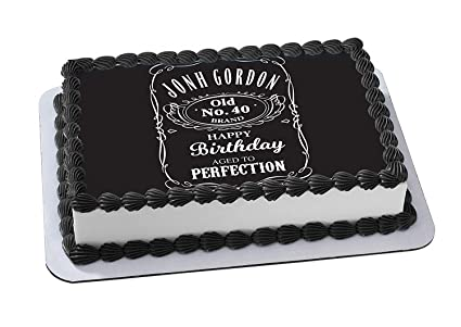 Amazon.com Jack Daniel\u0027s Edible Cake Topper Personalized